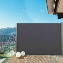 IDMARKET   Paravent Extérieur Rétractable 300x200cm Gris Anthracite Store  Vertical