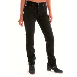 levi 39 s jeans levis 595 noir femme coupe droite slim. Black Bedroom Furniture Sets. Home Design Ideas