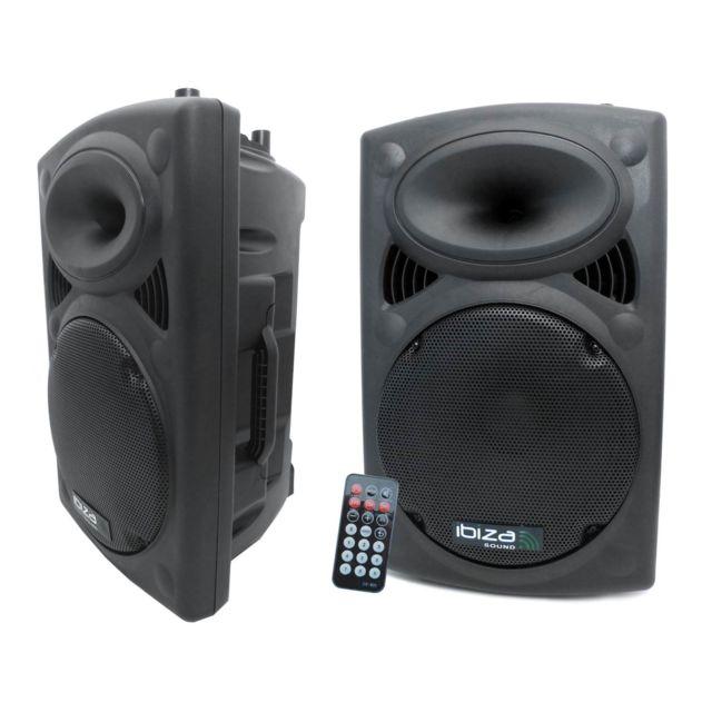 Ibiza Enceinte amplifiée 800W + enceinte passive 700W