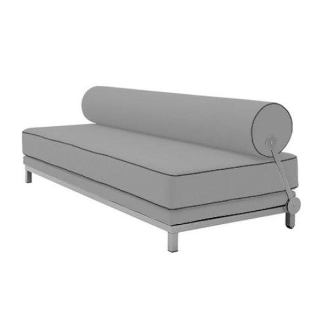 Inside 75 Canapé lit convertible design Sleep en tissu laine gris souris structure aluminium Softline