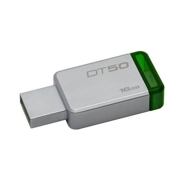 KINGSTON - Clé USB 3.0 16Go DataTraveler 50 Metal/Vert DT50/16GB