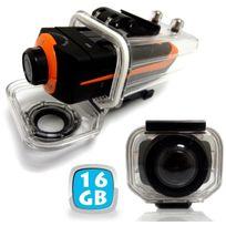 Yonis - Caméra sport embarquée étanche écran Pro Hd 1080P Grand angle 16 Go