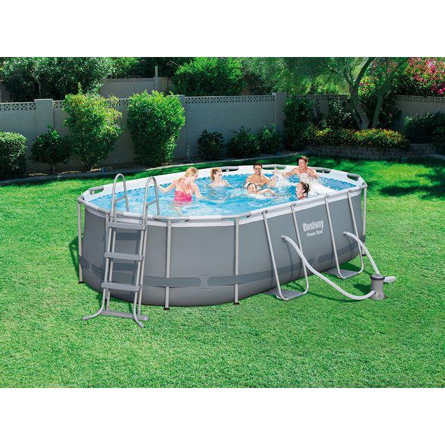 piscine tubulaire ovale – 424 x 250 x h100 cm