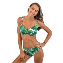 7efc699907 Lolita Angels - Maillot de bain 2 Pièces Bandeau Playa Vogue Bonnet D Palm  Blanc et