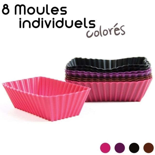 Moules à mini cakes / financiers individuels en silicone - Lot de 8