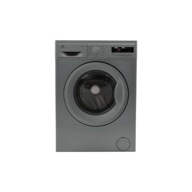 Continental Edison Lave-linge Frontal 12 Kg 1200 Trs/min A+++ Depart Differe Affichage Digital Silver moteur Induction