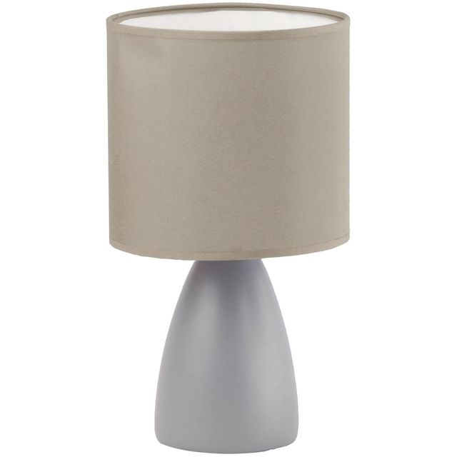 Promobo Lampe Design Triangle Pieds Argente Abat Jour Coloris