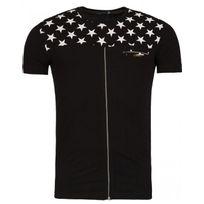 Rerock - Tee shirt étoile 1106 Noir
