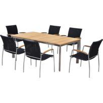 table acier brosse - Achat table acier brosse pas cher - Rue du Commerce