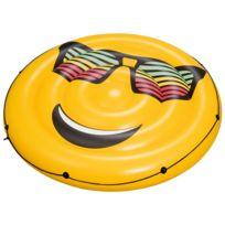 Best Way - Matelas gonflable plage piscine Bestway Lounge smiley 1.88m Jaune 83475