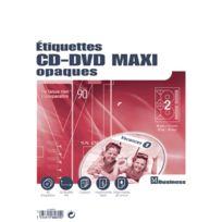 Majuscule - etiquette cd-dvd multi-usage - pochette de 40