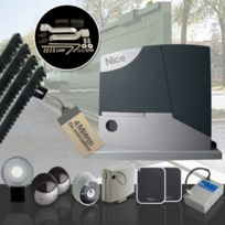 NICE - Motorisation portail coulissant RobusKit 400 LUXE avec accessoires