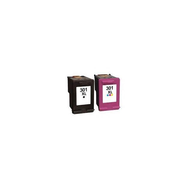 plein d 39 encre pack 2 cartouches d 39 encre n 301 xl noir et couleur grande capacit pour. Black Bedroom Furniture Sets. Home Design Ideas