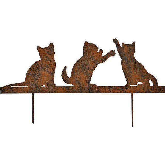 LA GRANDE PRAIRIE Silhouette chatons sur pique en fonte