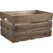 AUBRY GASPARD - Caisse ancienne en bois vieilli