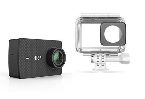 Caméra sportive 4K + Noir avec caisson