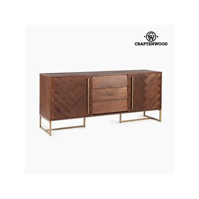Craften Wood Buffet Bois d'acacia Mdf 180 x 45 x 80 cm Collection Serious Line by Craftenwood