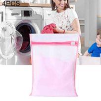 3bc42079bb Wewoo - Filet à linge rose 4 Pcs épaississement gros maillage sac à costume  polyester lavage