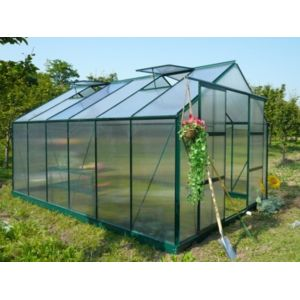 Marque generique serre de jardin en polycarbonate de for Serre de jardin carrefour