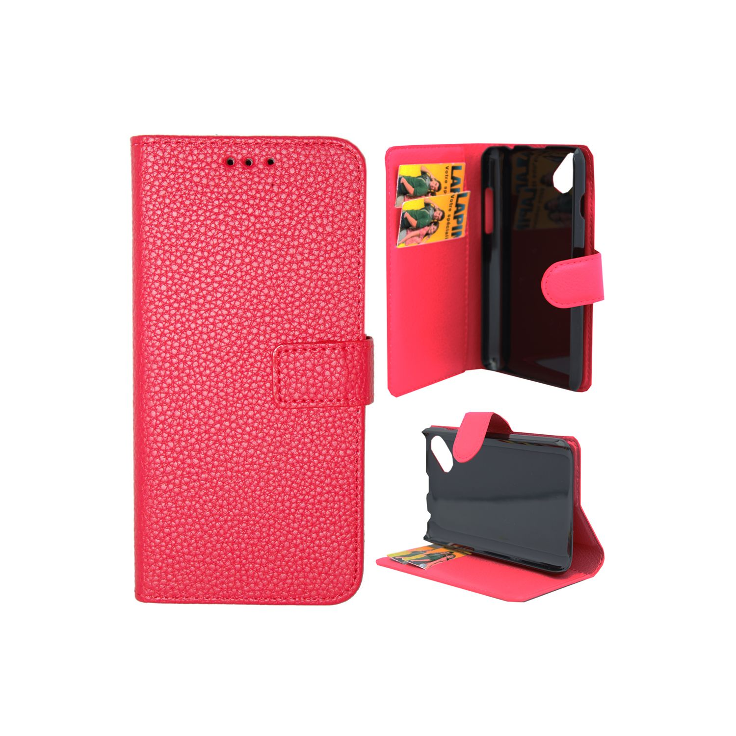 Lapinette etui housse portefeuille pour wiko sunny 2 for Housse wiko sunny 2