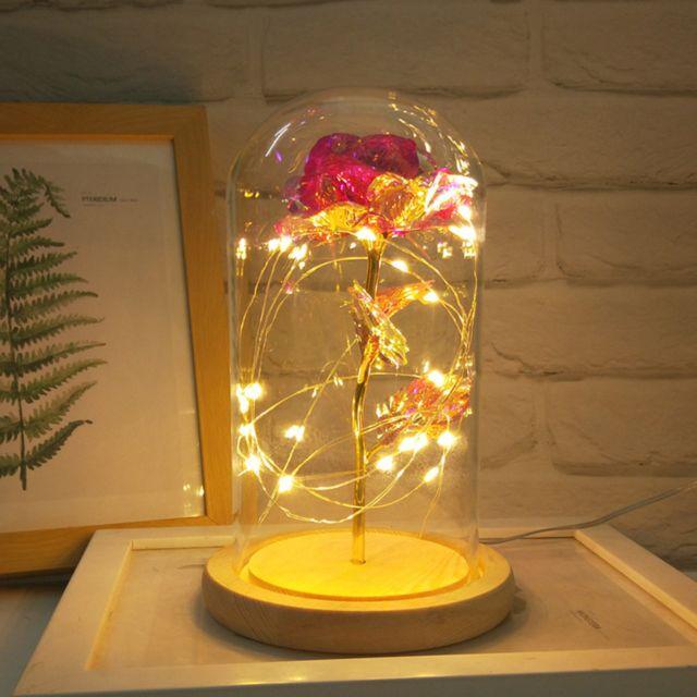 Fête des mères en verre romantique Décoration Rose Ameublement Cadeaux de vacances