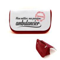 Mygoodprice Portefeuille /à rabat porte-monnaie m/étier passion ambulancier
