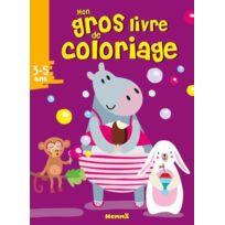 Hemma - mon gros livre de coloriage ; 3-5 ans ; hippopotame