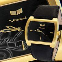 Vestal - Montre Destroyer leather black 5ATM