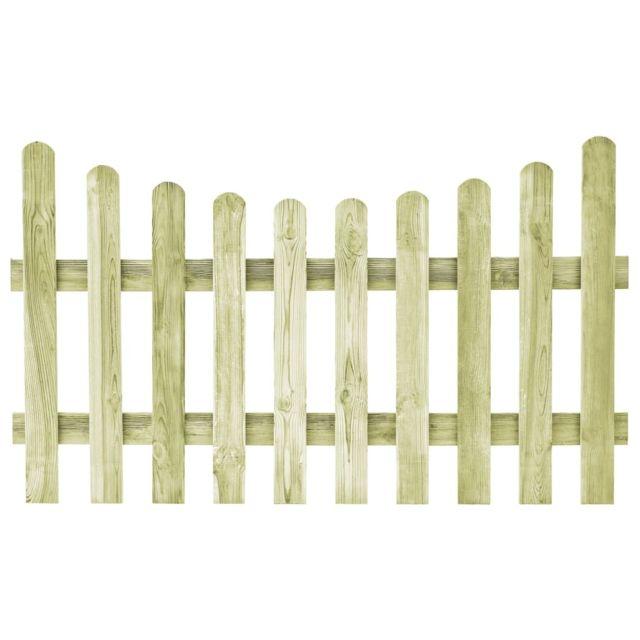 Portillon de jardin Pin imprégné Fsc 170 x 100 cm - Quincaillerie -  Clôtures et barrières - Portillons | Vert | Vert