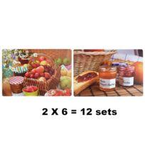 Revimport - Sets de table par 12 polypro. Petit Déjeuner