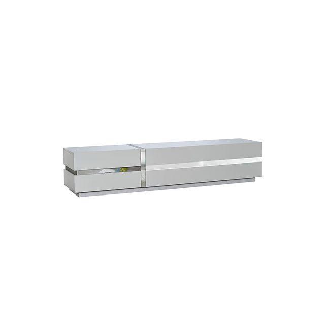 Meuble télé L220xH47xP50cm - blanc