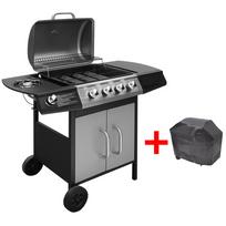 Vidaxl - Barbecue grill à gaz 4 + 1 brûleurs Noir et argenté