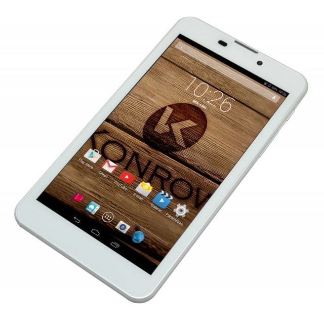 Konrow BigCool - Smartphone Android 5.1 Lollipop - Ecran 6'' - 8Go - Double Sim - Blanc