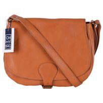 Oh My Bag - Sac à main cuir femme - Modèle Vintage cognac