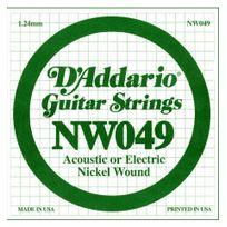 D'ADDARIO - Corde au détail Nw049 - guitare électrique - Filet rond 049