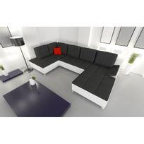 Meublesline - Canapé d'angle panoramique et convertible Vino 7 places