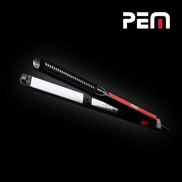 Pem Lisseur à cheveux noir 40W - Plaques en céramique et Indicateur de T