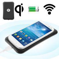 Yonis - Chargeur Qi à induction sans fil universel smartphone Noir