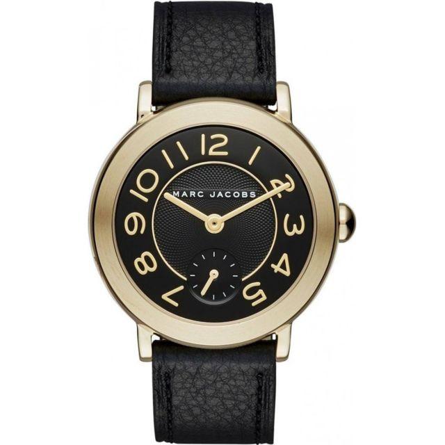 prix attractif prix outlet Montre Femme Riley Mj1471 Bracelet cuir noir