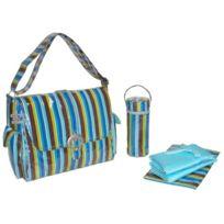 Kalencom - Fashion Diaper Bag, Changing Bag, Nappy Bag, Mommy Bag, Laminated Buckle Bag MONKEY Stripe