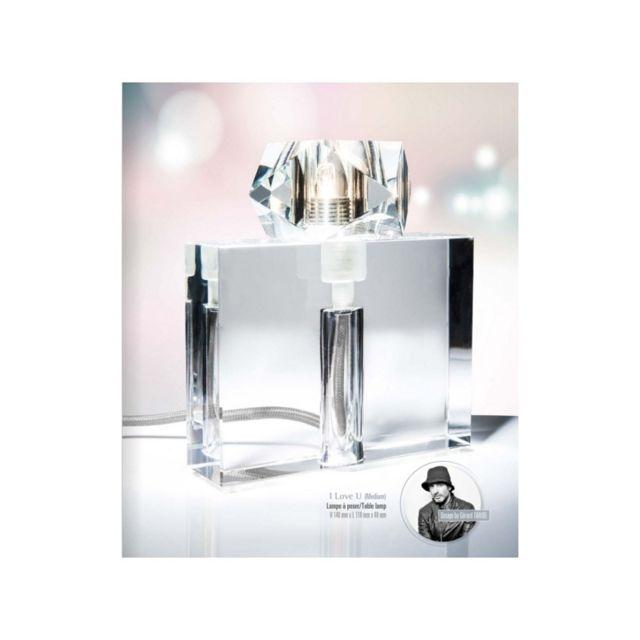Concept Verre Lampe à poser originale en verre I Love U