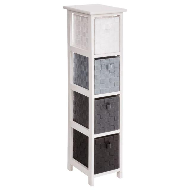 Instant D\'O - Meuble de rangement 4 tiroirs Aqua B -taille M - Gris ...