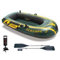 INTEX - Kit bateau gonflable Seahawk 2 avec rames et gonfleur - 2 places