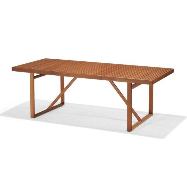 Table de jardin rectangulaire Newbury en bois d\'eucalyptus FSC 220 x 100 x  76 cm