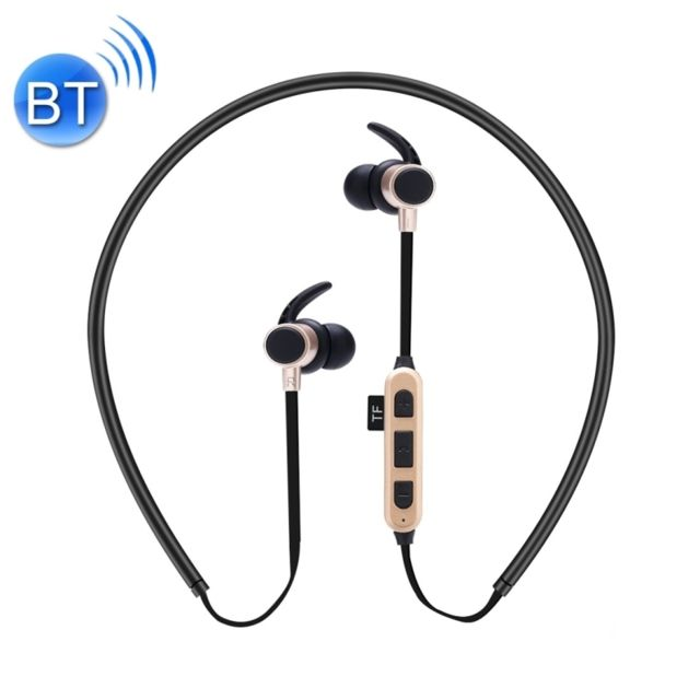 WEWOO Casque Bluetooth Sport or pour iPhone, Galaxy, Huawei