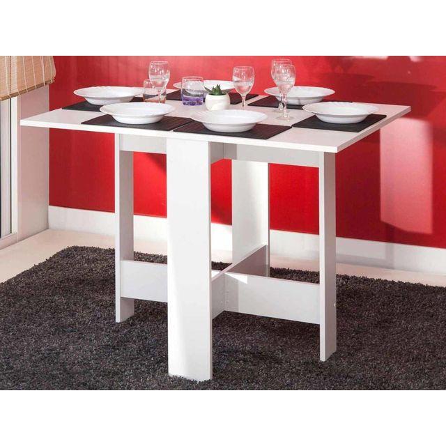 Marque Generique Table à manger pliante en bois 3 positions Astucea - Blanc