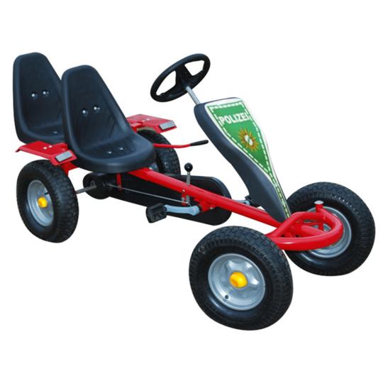 Rocambolesk - Superbe Kart à pédales rouge 2 sièges avec 2 autocollants Neuf