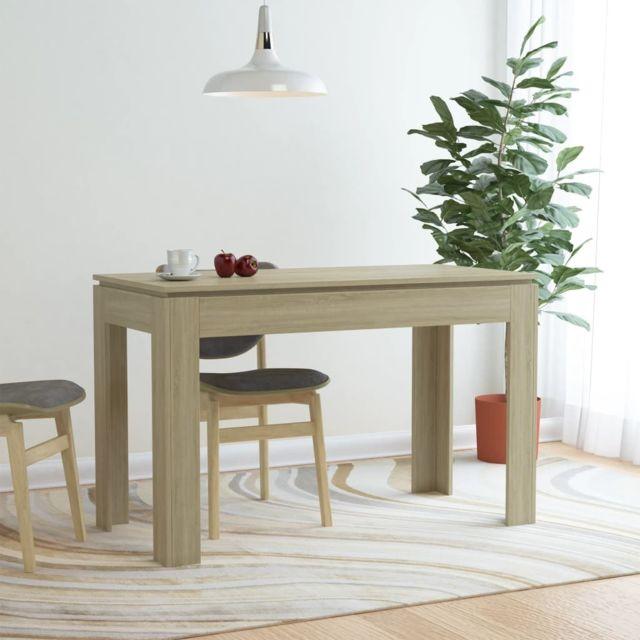 Vidaxl Table de Salle à Manger Chêne Sonoma 120x60x76 cm Aggloméré Dîner