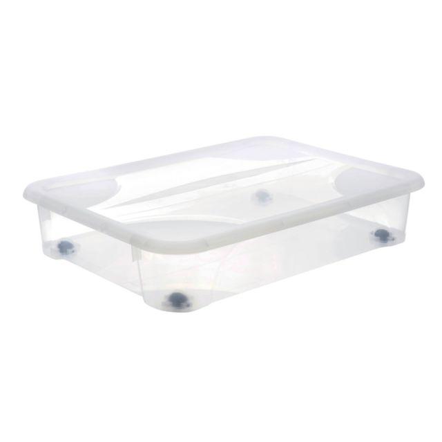 Rangement dessous de lit Gigabox 60L transparent