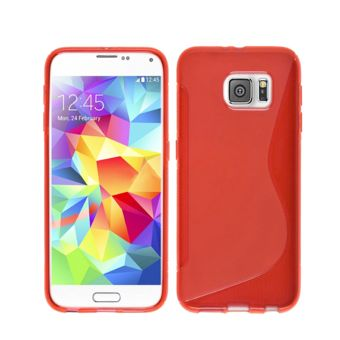 Lapinette - Coque Gel Vague S Pour Samsung Galaxy S7 - Rouge